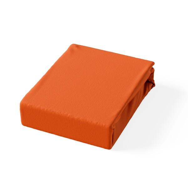 Carlo Jersey Spannbetlaken Orange
